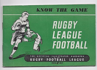 1949 Know The Game Rugby League Handbook England Australia Wales Scotland