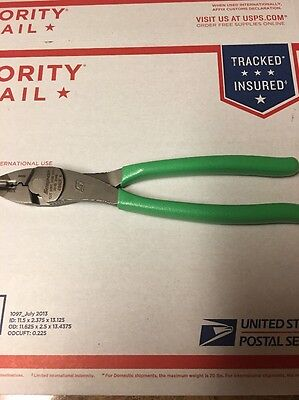 New Snap On Green Terminal Crimping/Cutter Pliers