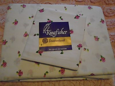 New Vintage Two Single  Bed  Sheet Sets Ditsy Rose  Rose Buds