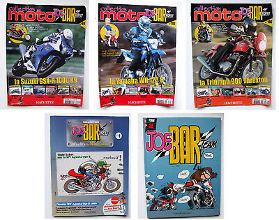 LOT FASCICULE BD - JOE BAR TEAM MOTO - HACHETTE Nr. 4, 99, 103, 106 + TOME 2