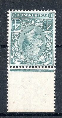 George V Royal Cypher 4d Pale Grey Green Inv Wmk Unmounted Mint