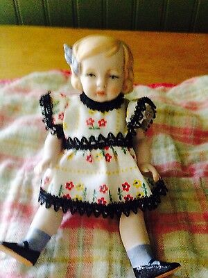 Vintage Antique Shackman Hand Painted Ceramic Doll