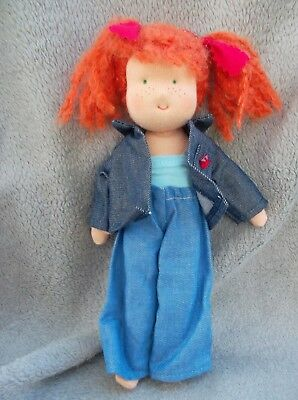 New Kathe Kruse Waldorf Doll 11 inRed Hair with outfit  Christmas gift