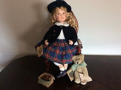 BOYDS Bear Samantha With Snipper the Bearmaker 4948 Yesterdays Child Collection