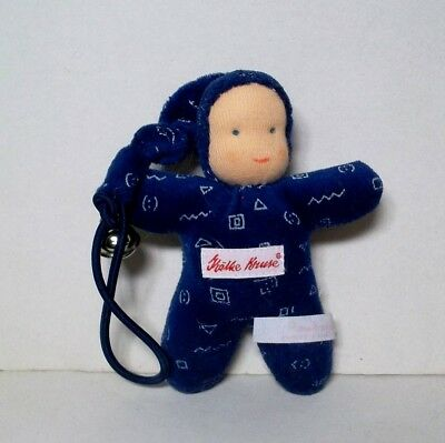 NEW Kathe Kruse Waldorf  Doll Blue with bell