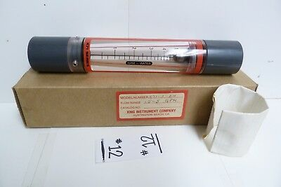 Nos King Instrument Company Flowmeter: 0.5-5 Gpm K71-3-Eh -#12
