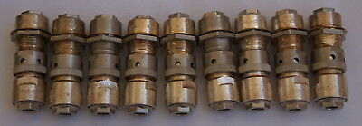 Nine Russian Mil-Spec Coax RF 75 Ohm Connectors