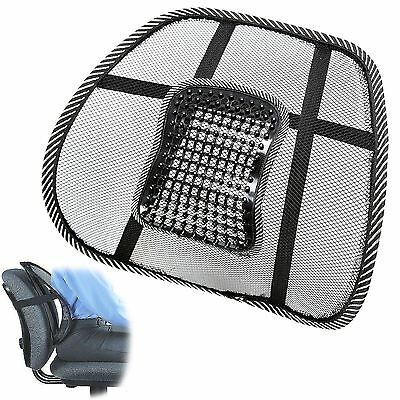 Mesh Lumbar Lower Back Support Cushion Posture Massage Pain Relief Car Seat