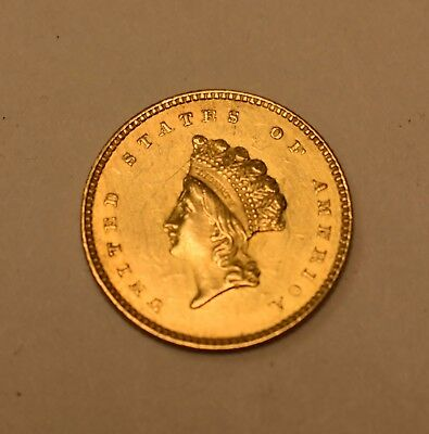 ( 1 ) 1854 One Dollar - $1 Gold Coin - Lot# G-60