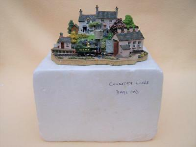 "Boxed Danbury Mint Country Lines "" Days End "" Train Diorama"