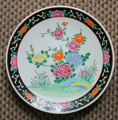 """Early Republic Period 12.4"""" Japanese Famille Rose Enamel Blossoms Charger"""