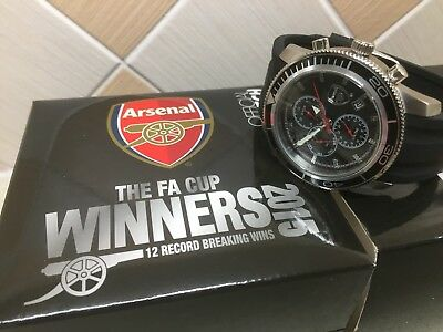 Limited Edition Arsenal FA Cup Celebration Watch -12 Record Breaking FA Cup Wins