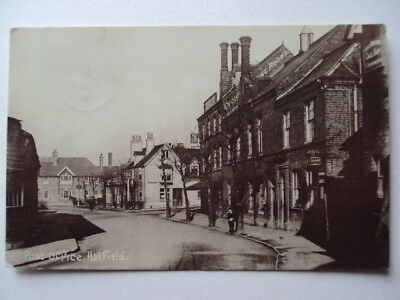 Post Office, Hatfield - 1911  sepia real photograph