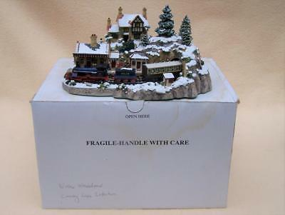Boxed Danbury Mint Country Lines Winter Wonderland Train Diorama