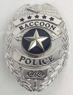 RESIDENT EVIL Raccoon Police Metal Badge Prop Replica New W/ Holder on Chain