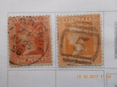 timbres anciens VICTORIA  AUSTRALIE