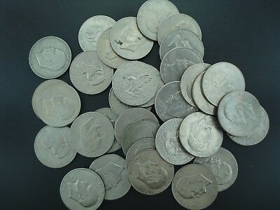 Lot of (33) Eisenhower Dollars $1 Coins (Mixed Dates & Mints) **NO RESERVE**