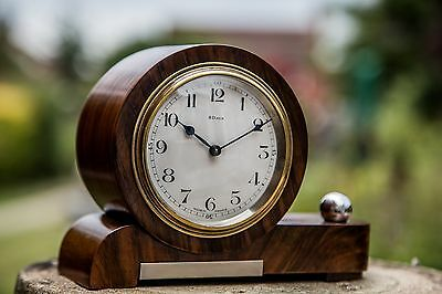 A Small French Art Deco 8 Day Desk Mantle Table Clock