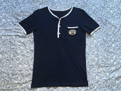 Ouragan by Ellesse - RARE Vintage Retro Navy 80's T-shirt - Size S small
