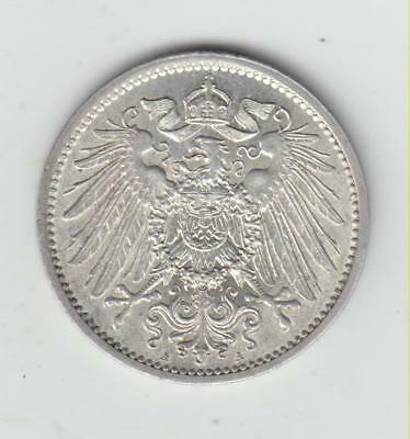 Stunning German 1899A Silver (.900) 1 Mark, Near Unc, Rare In Such High Grade!!!