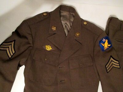 WW2 2nd Air Force Class A Service Jacket Trouers Sgt Sharp Custom Tailored AAC
