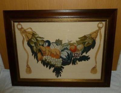 Acanthus Collection Framed Exotic Fruit Garland Piece Beautifully Crafted