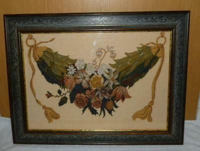Fab Framed Tapestry Of A Garland Of Flowers & Foliage By Acanthus Collection