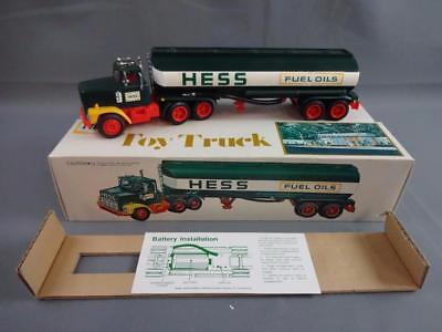 Vintage 1978 Hess Fuel Oils Toy Truck Working w/Box, Instructions & Inserts - A