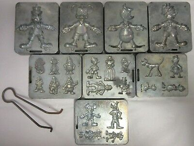 8 Vintage MARX Thingmaker Disney Molds Pinocchio Mickey Mouse Plute Snow White D