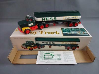 Vintage 1978 Hess Fuel Oils Toy Truck Working w/Box, Instructions & Inserts - B