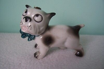 Vintage German Porcelain Bulldog with a Fly on his Nose