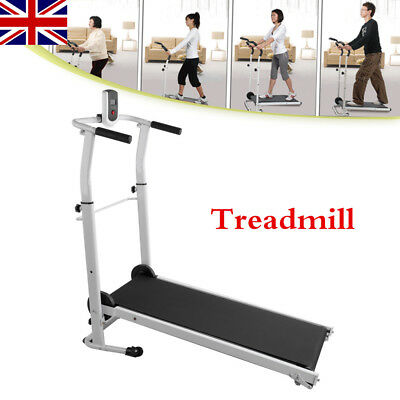 FOLDING TREADMILL Fixed Incline Electric Motorised Folding Running Machine UK