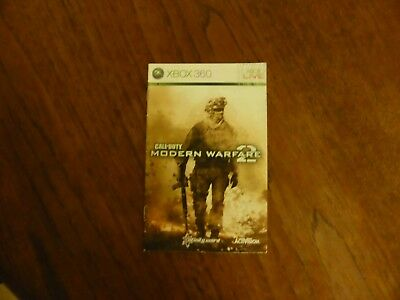 MANUAL ONLY Xbox 360 Call of Duty Modern Warfare 2 no game