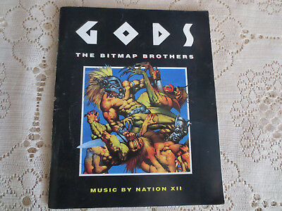 Gods - Bitmap Bros - Amiga/Atari Original Games Manual Good condition