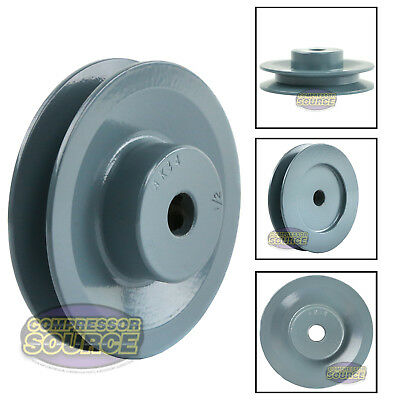 "3.5"" Cast Iron 1/2"" Shaft Pulley Sheave Single 1 Groove V Style A Belt 4L New"