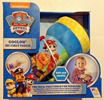 PAW PATROL - My First Torch Toddler Proof - GoGlow - NEW Nickelodeon