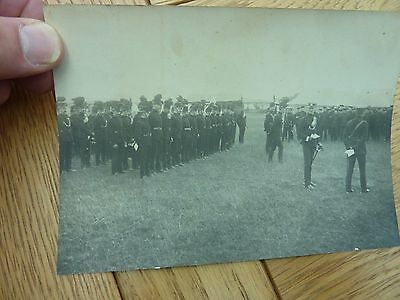 Vintage Pre Ww1 Original Photo Soldiers On Parade 6 X 4.5 Inch