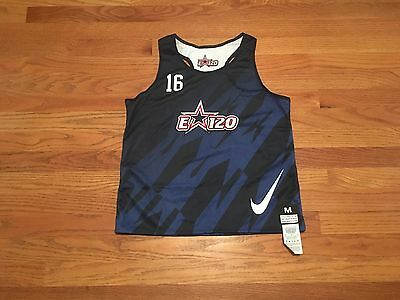 New Nike Boy's Medium Elite 120 Reversible Lacrosse Tank Blue / White $40