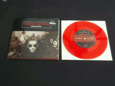 """Shed Seven Getting Better 1996 Uk Press 7"""" Red Vinyl Record Single Near Mint"""