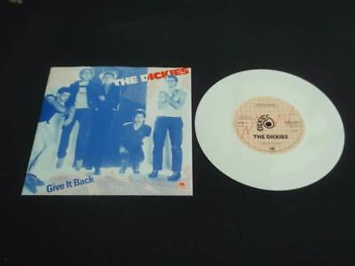 "The Dickies Give It Back 1978 Uk Press 7"" White Vinyl Record Single Ex/ex"