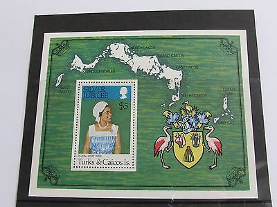 1977 Turks & Caicos Islands Silver Jubilee Miniature Sheet MNH