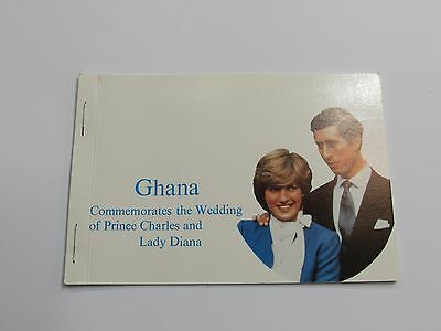 1981 Ghana Royal Wedding Stamp Booklet