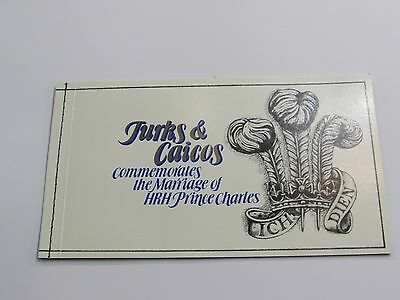 1981 Turks & Caicos Islands Royal Wedding Stamp Booklet