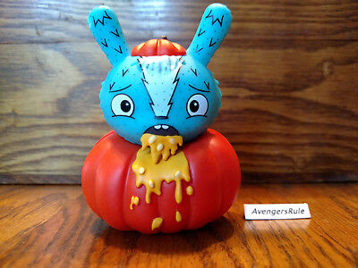 Dunny Series the Bots' Scared Silly KidRobot Sick Pumpkin 2/24