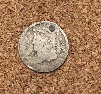 1829-1837 5C Capped Bust Half Dime 90% Silver Vintage US Coin #AX17