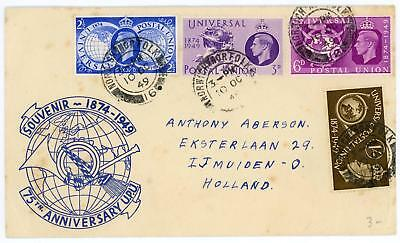 GB 1949 UPU Very Scarce illustration FDC to Netherlands