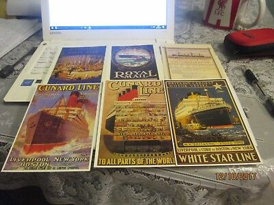 14 shipping poster postcards