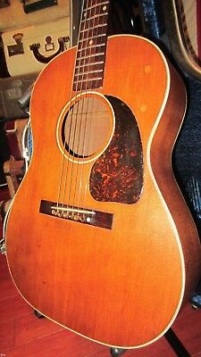 Vintage 1945 Gibson LG-2 Acoustic Guitar Natural Refin w/ Hard Case Warm Tone!