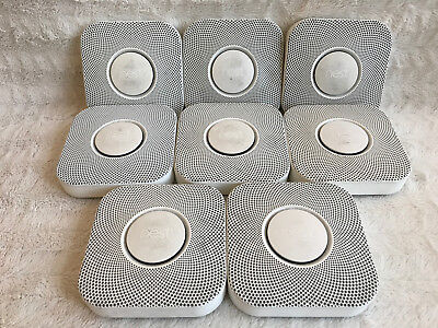 Lot of 8 Nest Protect Smoke + Carbon Monoxide Hard Wired DEMONSTRATION UNITS