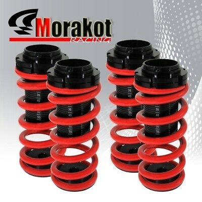 Accord 98-02 Racing Suspension Adjustable Coilover Lowering Drop Red Black Scale